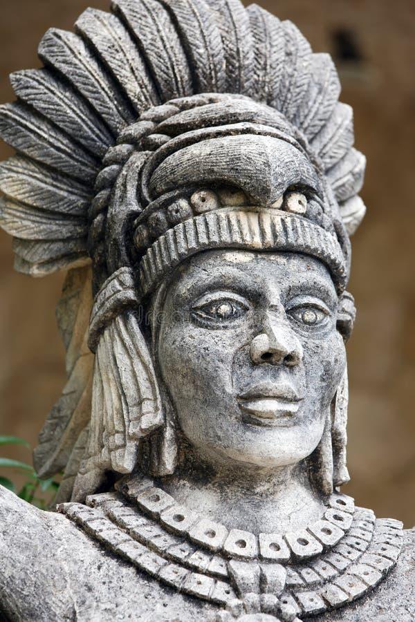 Portrait de guerrier maya images stock