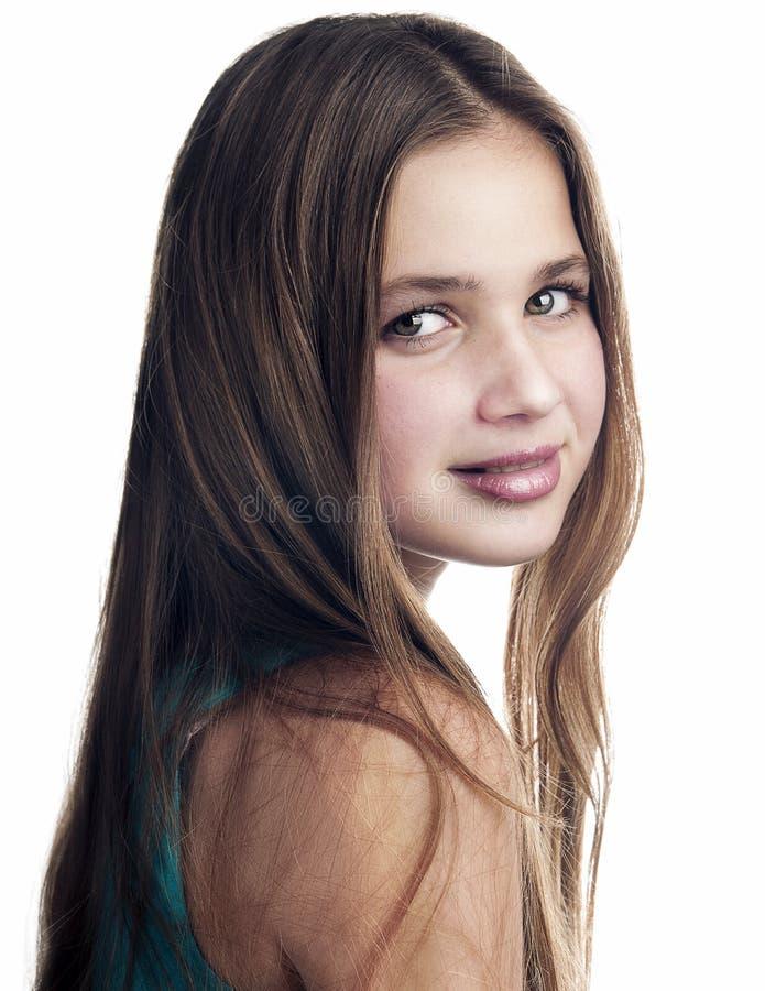 Portrait de jeune adolescente. photographie stock libre de droits