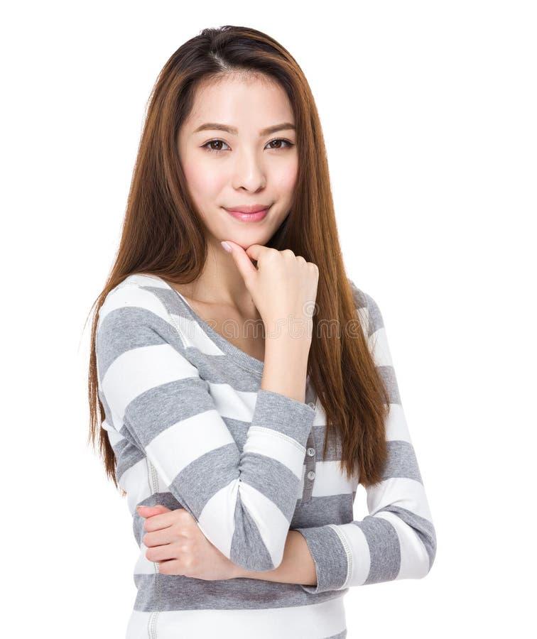 Portrait de jeune femme images stock