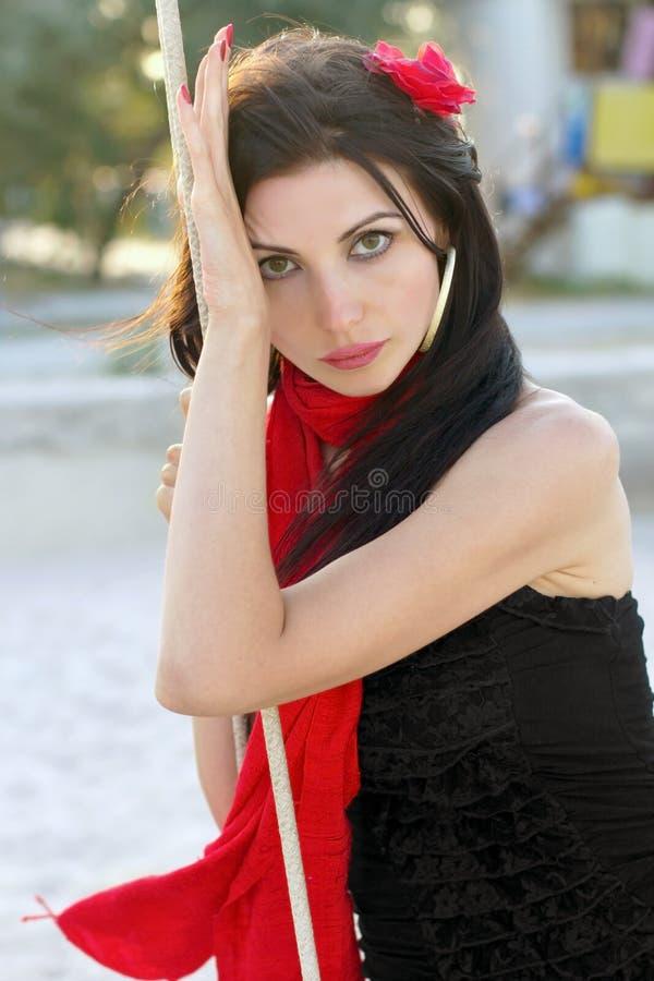 Portrait de jeune femme séduisante photographie stock