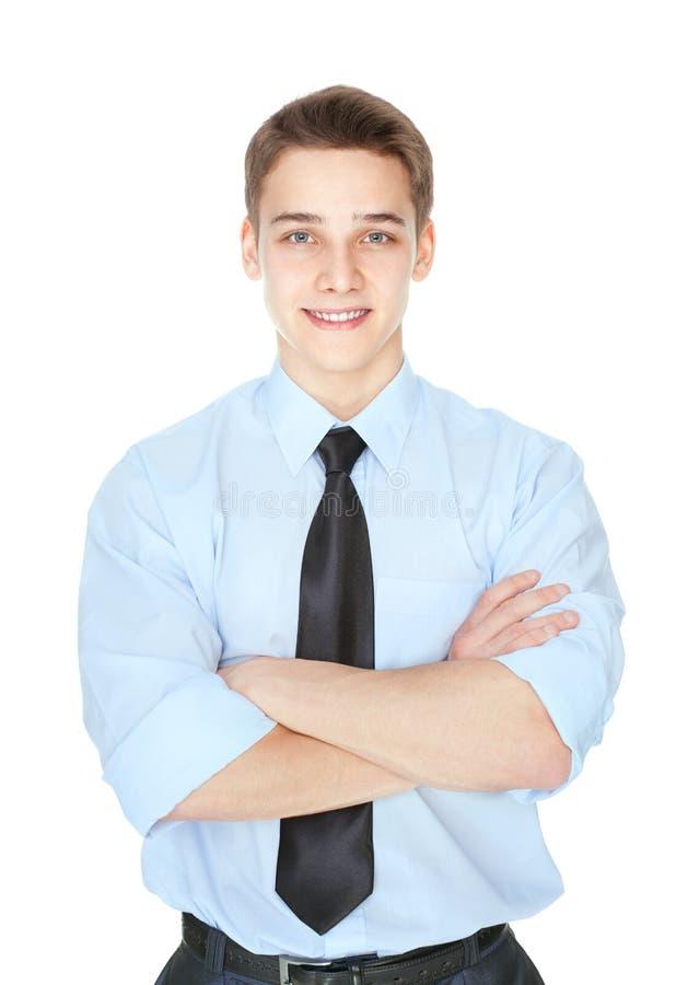 Portrait de jeune homme d'affaires réussi photographie stock libre de droits