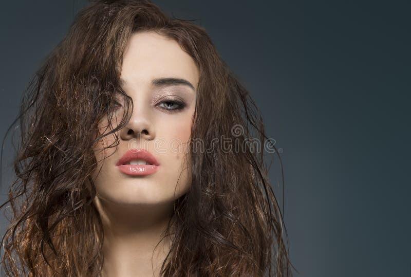 Portrait de jeunes de beauté de brune images stock