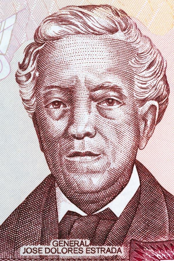 Portrait de Jose Dolores Estrada photos stock
