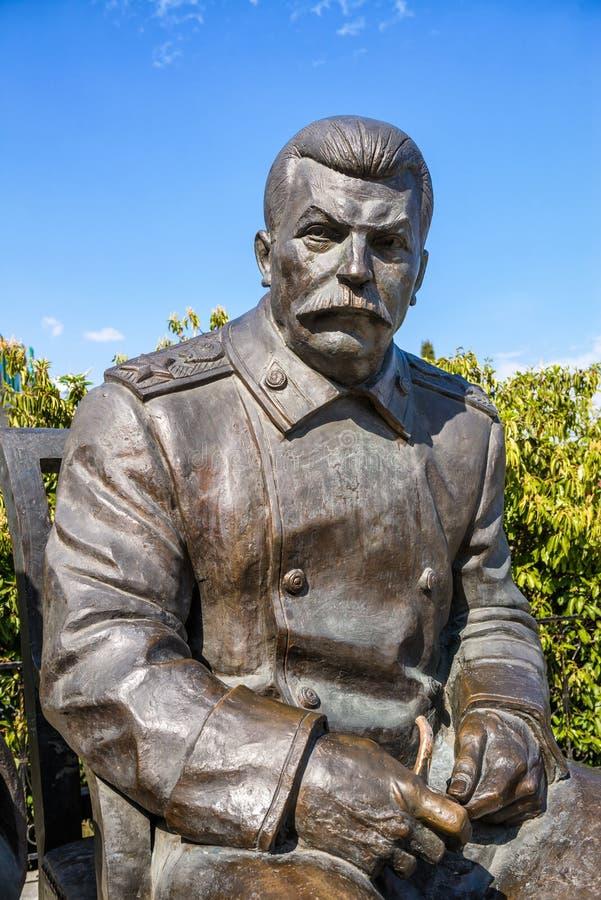 Portrait de Joseph Stalin en bronze photos stock
