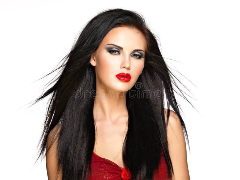 Portrait de la belle femme. image stock