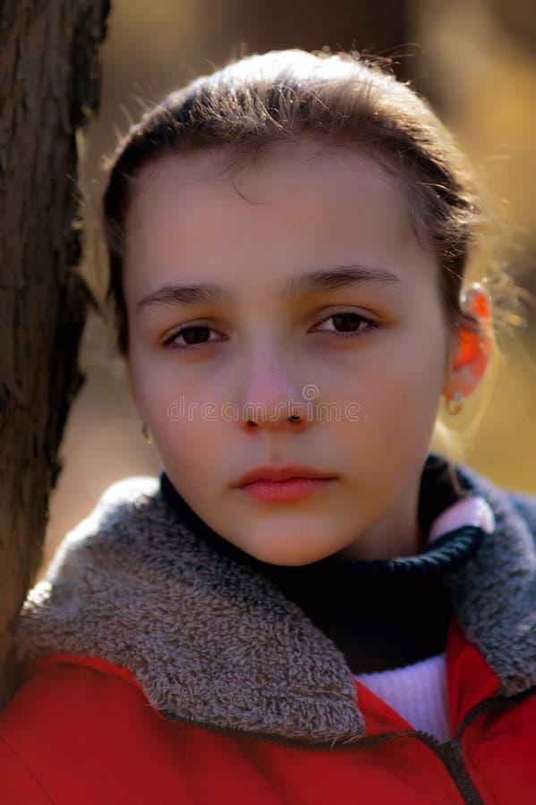 Portrait de la fille triste image libre de droits