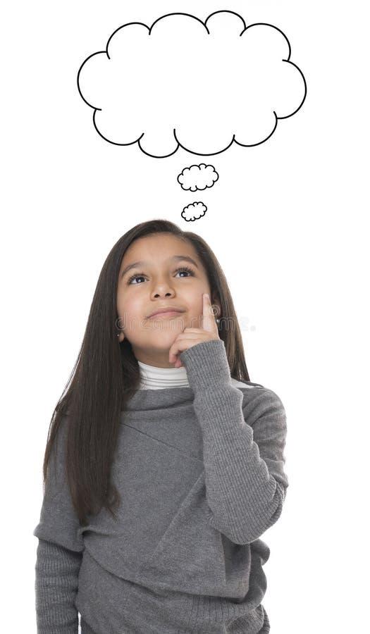 Portrait de la pensée de jeune fille photos libres de droits