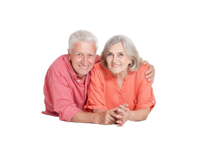 Portrait de la pose supérieure de couples image stock