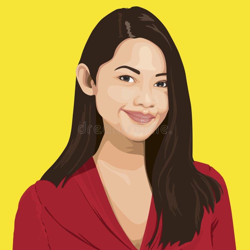 Portrait de Madame futée Vector illustration de vecteur