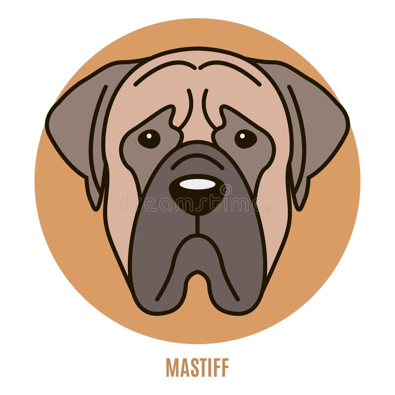 Portrait de mastiff illustration stock