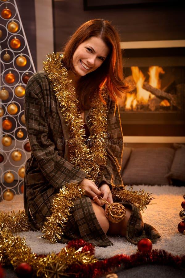 Portrait de Noël heureux photographie stock libre de droits