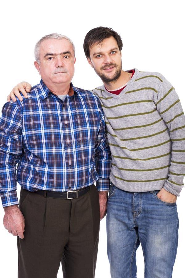 portrait de père et de fils photo stock