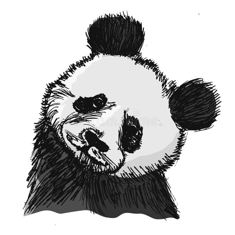 Portrait de panda illustration libre de droits