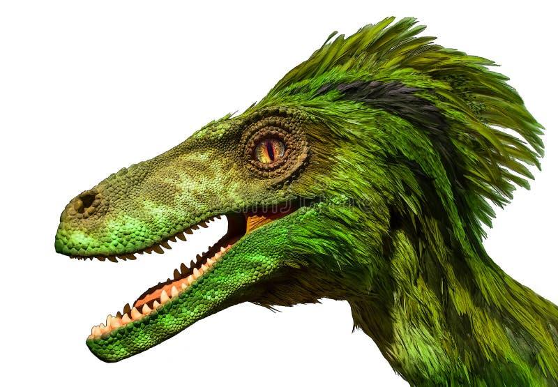 Portrait de peinture de dragon vert image stock