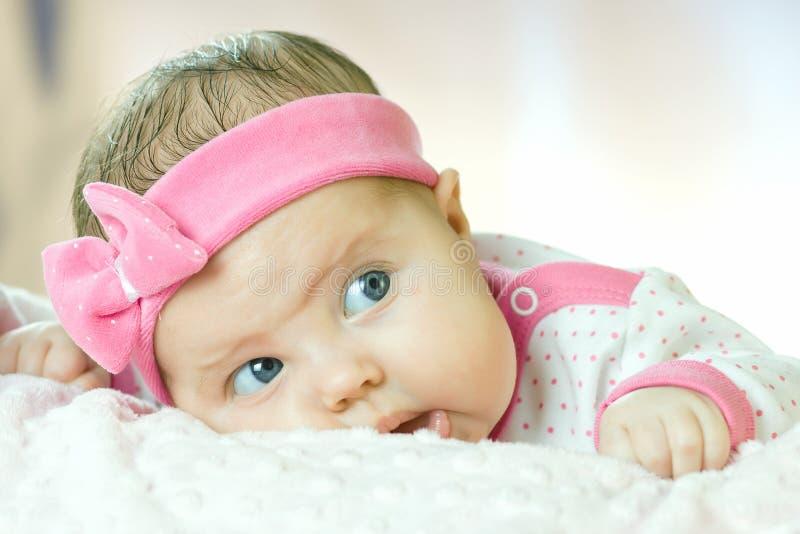 Portrait de petit bébé très doux image stock