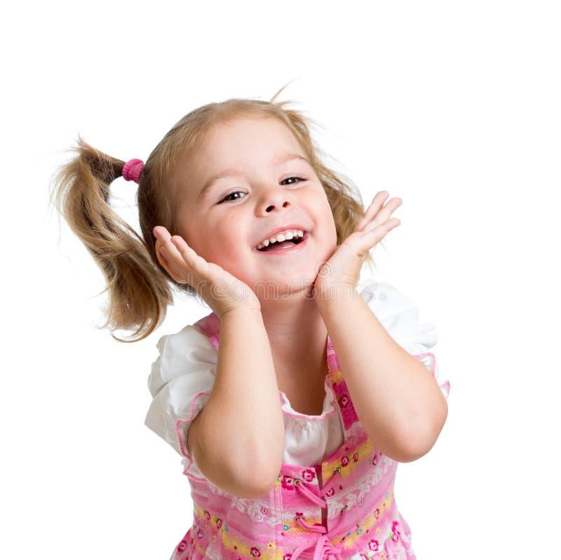 Portrait de petite fille d'enfant émotif images libres de droits