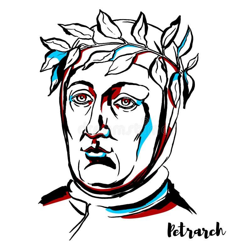 Portrait de Petrarch illustration libre de droits