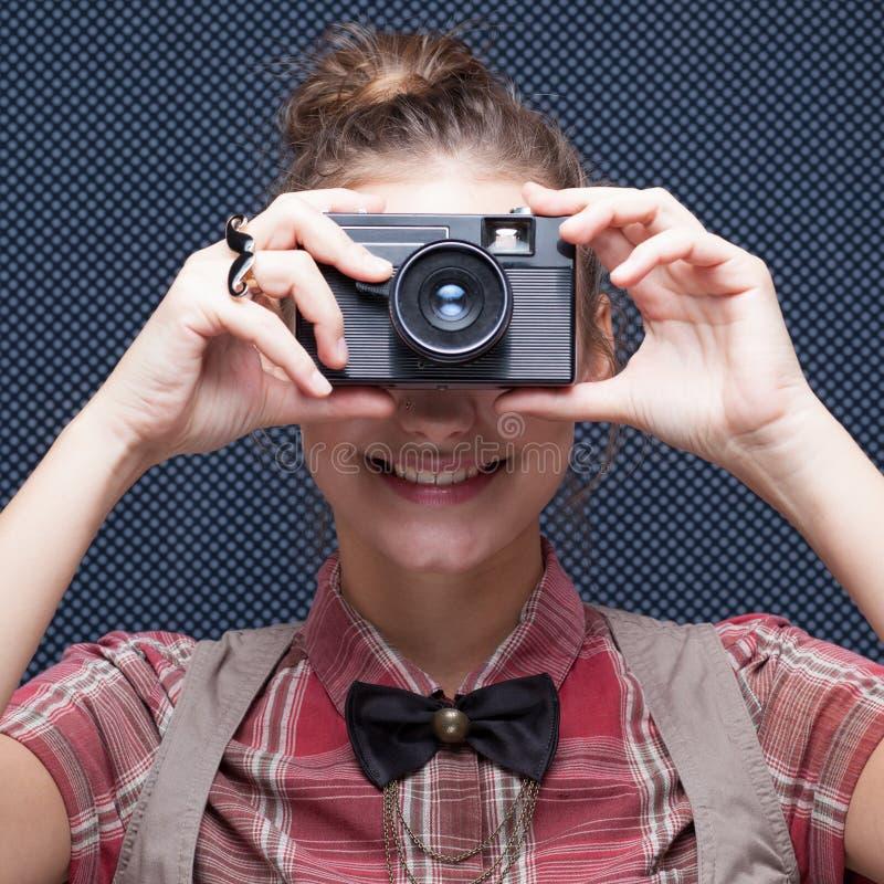 Portrait de photographe féminin photographie stock