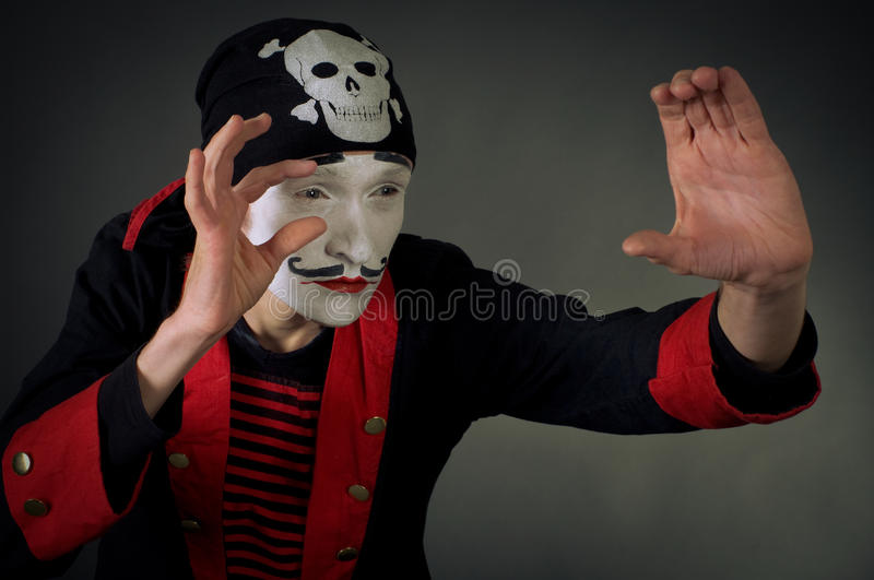 Portrait de pirate de pantomime photo libre de droits