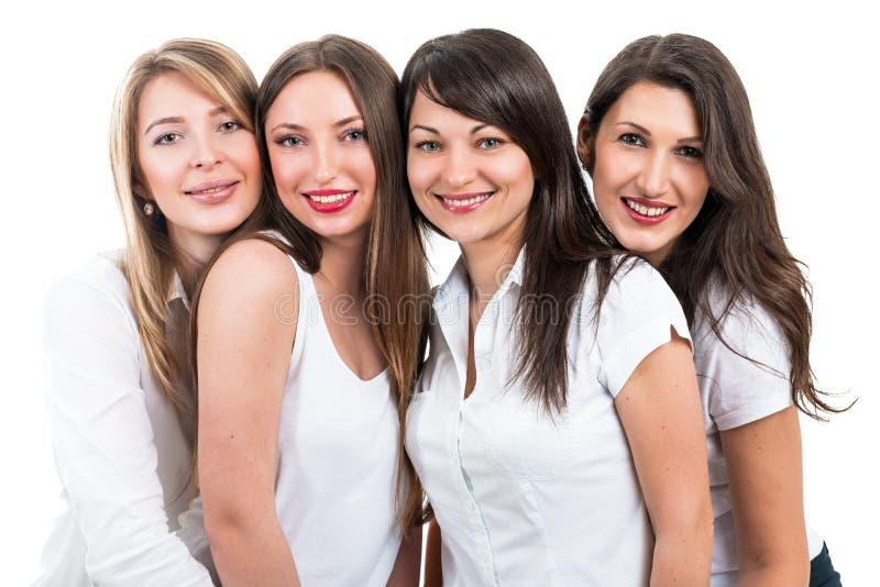 Portrait de quatre belles femmes photos libres de droits