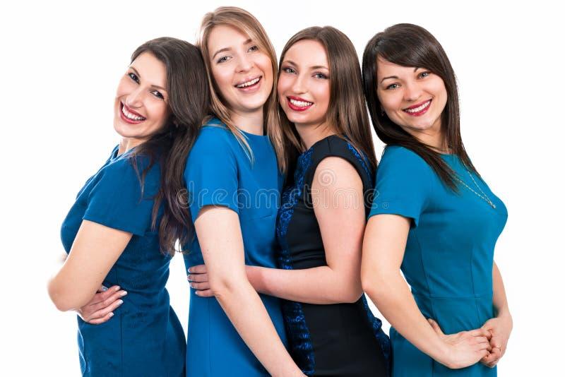 Portrait de quatre belles femmes images libres de droits