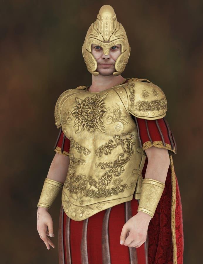 Portrait de Roman Soldier illustration de vecteur