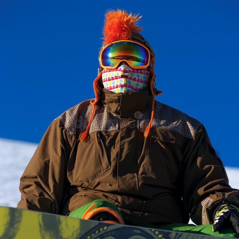 Portrait de snowborder photographie stock libre de droits