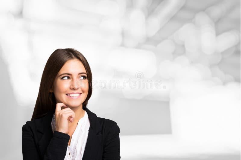 Portrait de sourire de femme, le grand copie-espace photos libres de droits