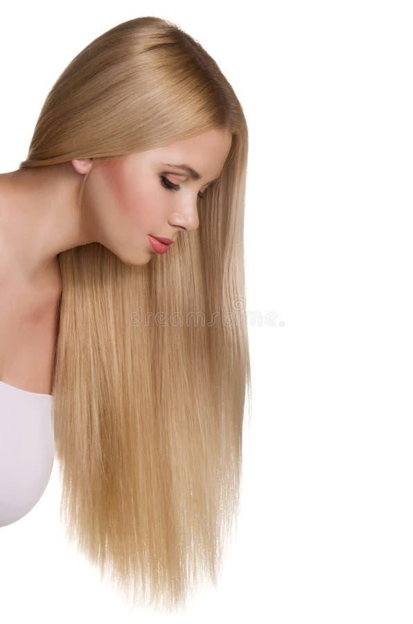 Portrait de studio de belle fille blonde photos stock