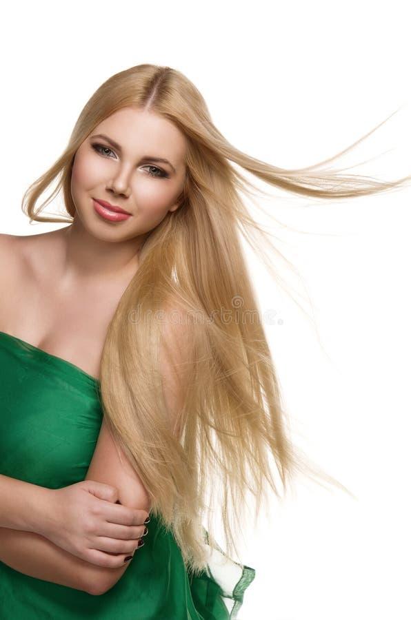 Portrait de studio de belle fille blonde image stock