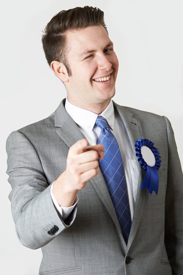 Portrait de studio de politicien peu fiable photo libre de droits