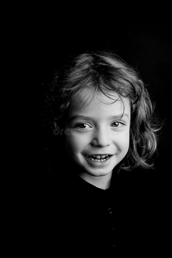portrait an de studio du garçon 5 photographie stock libre de droits