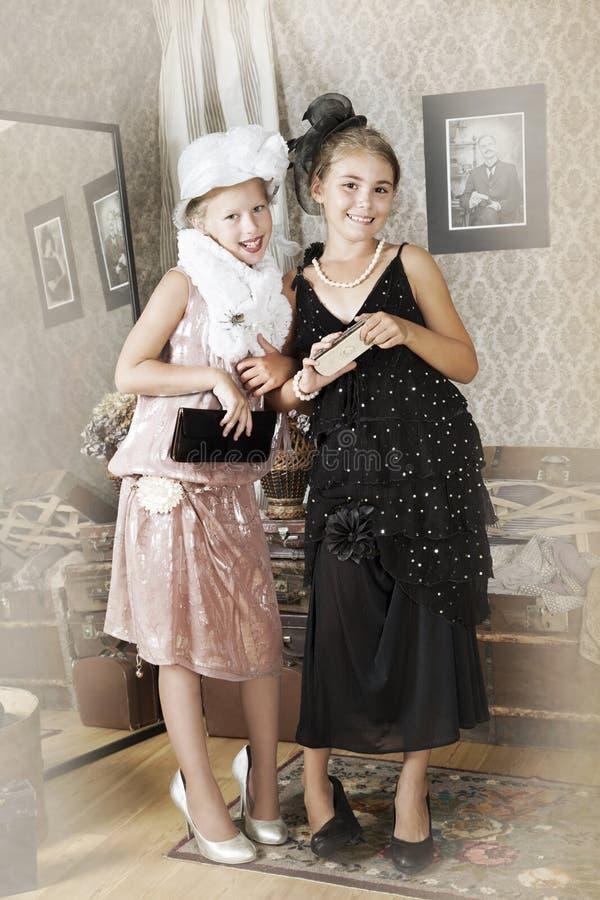 Portrait de style de vintage images stock