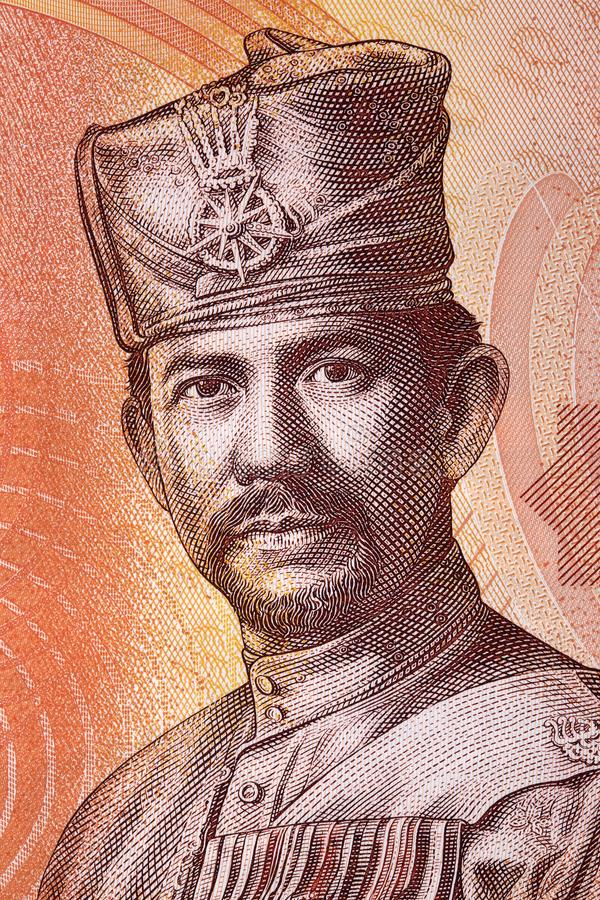 Portrait de Sultan Hassanal Bolkiah photos stock