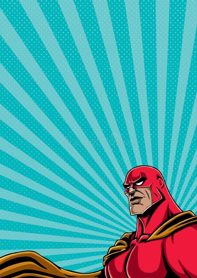 Portrait 2 de super héros illustration de vecteur