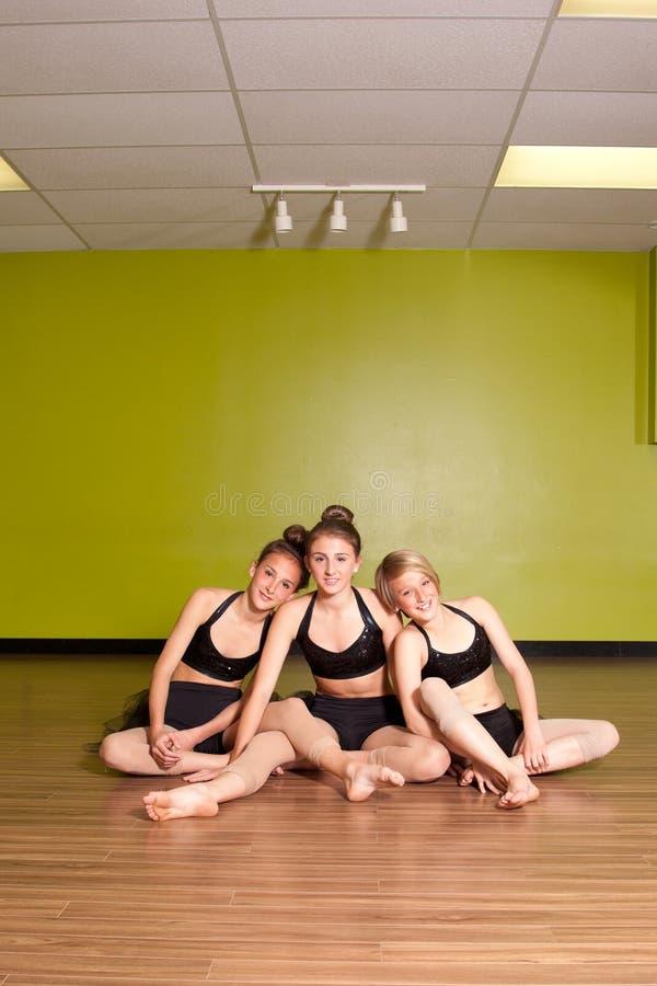 Portrait de trois jeunes adolescentes photographie stock