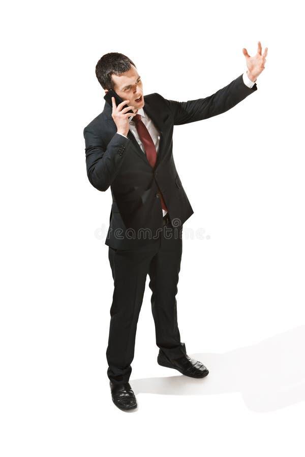 Portrait de trois quarts d'un homme d'affaires avec le visage très sérieux Professionnel sûr avec le regard de perforation dans photographie stock