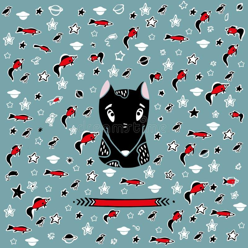 Portrait de vecteur d'un chien Crabot gentil illustration stock