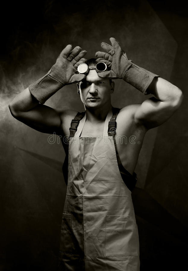 Portrait de vintage de travailleurs photos stock