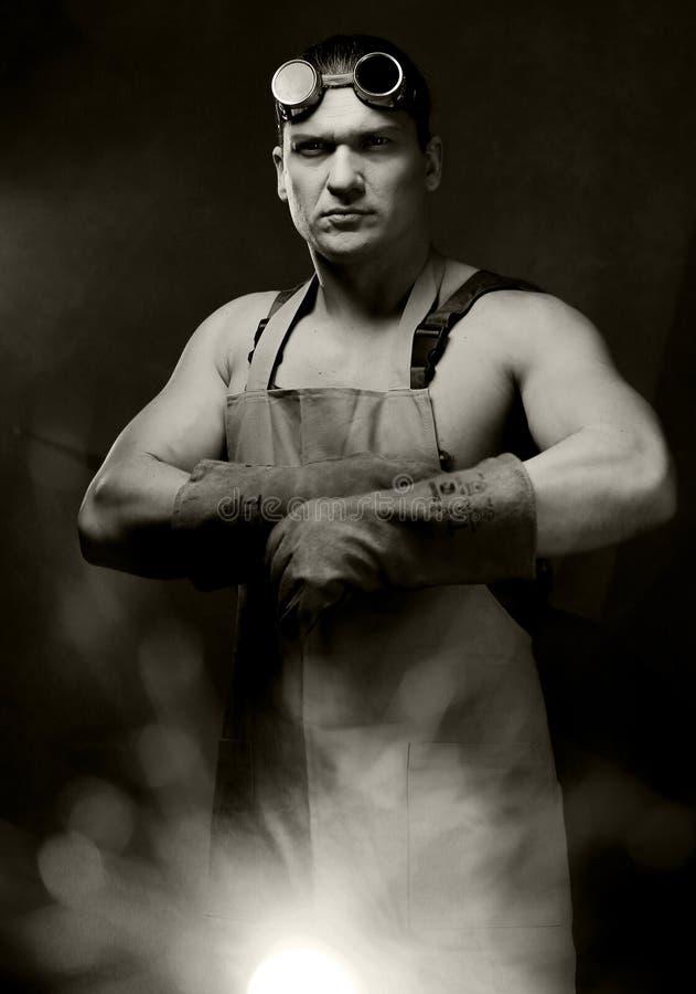 Portrait de vintage de travailleurs images stock
