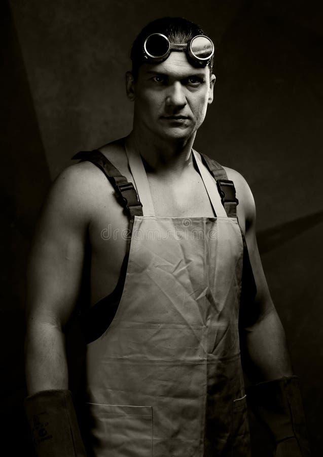 Portrait de vintage de travailleurs photographie stock libre de droits