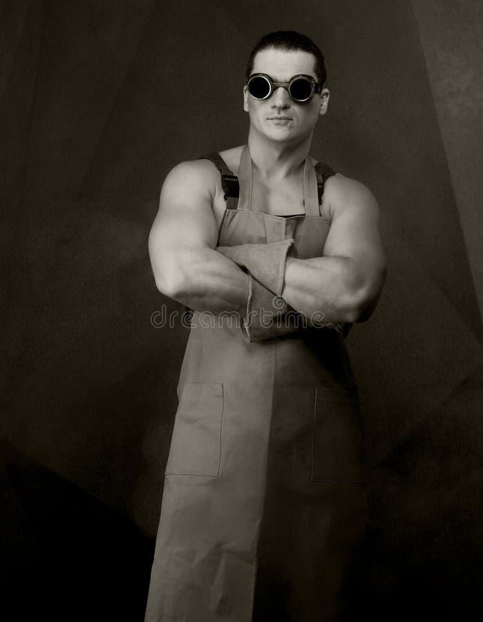 Portrait de vintage de travailleurs photo stock