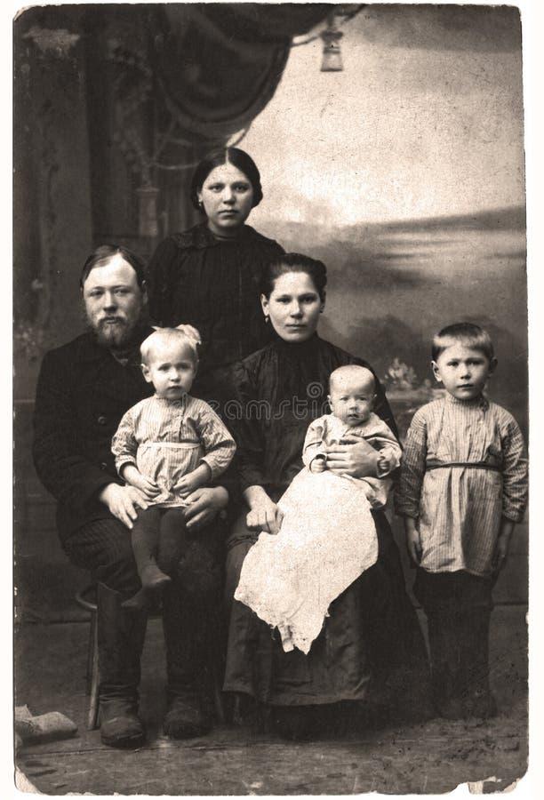 Portrait de vintage de famille photo stock