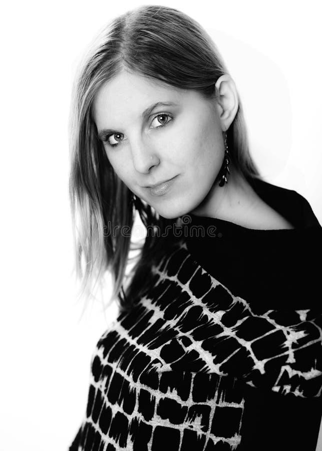 Portrait de visage de femme de beauté photo libre de droits