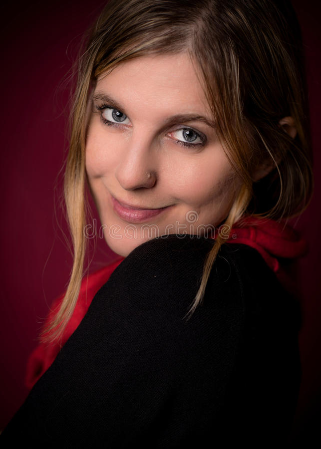 Portrait de visage de femme de beauté photographie stock libre de droits