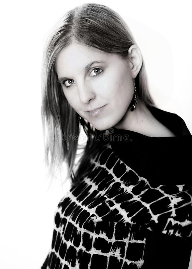 Portrait de visage de femme de beauté photographie stock