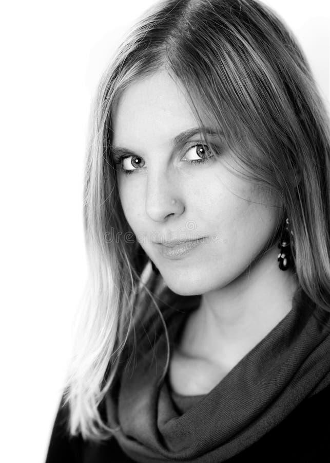 Portrait de visage de femme de beauté photo stock
