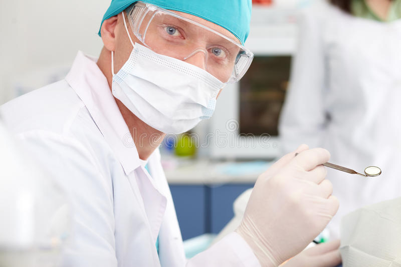 Download Portrait of a dentist stock image. Image of male, checkup - 26268119