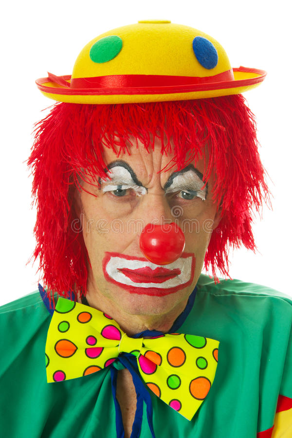 Portrait Of A Depressed Clown Royalty Free Stock Photos