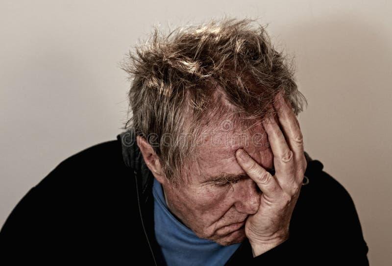 Portrait of depressed man royalty free stock photo